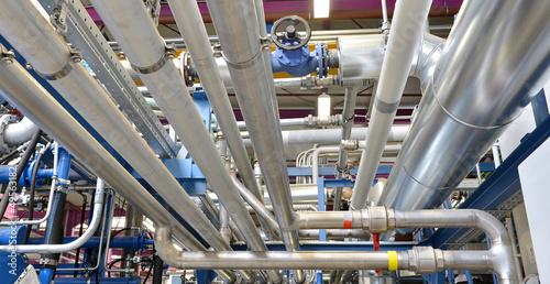 Leinwanddruck Bild Rohrleitungen // pipeline