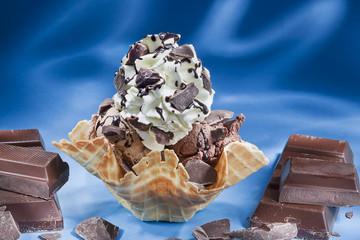 Schokoladen Eisbecher