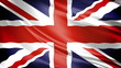 United Kingdom Flag: UK's Union Jack waving