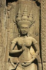 Wall bar-relief, Chau Say Tevoda temple, Cambodia