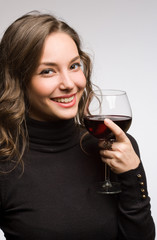 Enjoying premium wine.