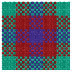 Three colored tartan