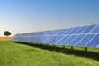 Leinwanddruck Bild - Freiflächen Solaranlage