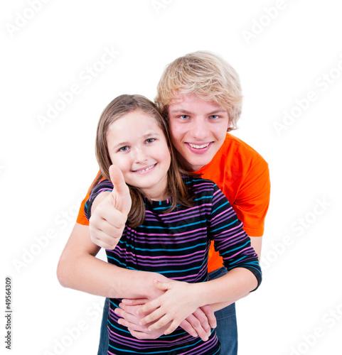 Teenager mit Schwester
