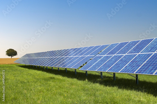 Leinwanddruck Bild Freiflächen Solaranlage