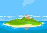 Fototapety Beautiful exotic island