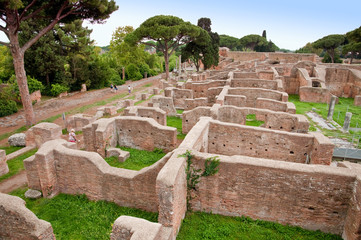 Neptune baths ruins at Ostia Antica - Rome