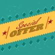 special offer retro label