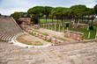 Amphitheatre steps and mausoleum in Ostia antica - Rome