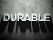 Durable text with shadow, word