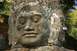 Close up of statue, Victory gate bridge, Angkor Thom,Cambodia