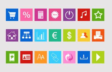 Set de iconos para la Web de colores