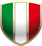 Scudo bandiera tricolore - italian flag shield