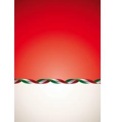 Sfondo nastro tricolore italiano - Italian ribbon background