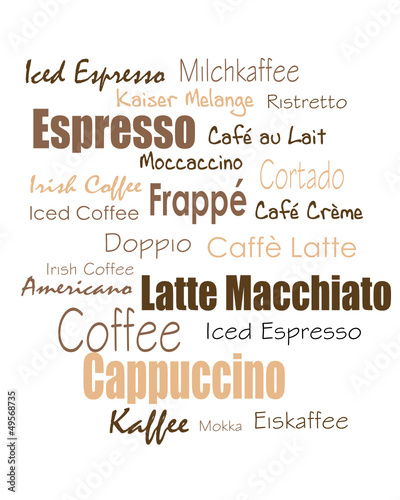 tag cloud coffee