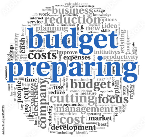 Budget preparing  concept