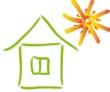 Haus, Sonne, Bewegung, Bauen