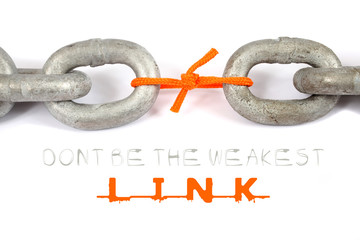 Don't be the weakest link