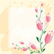 Delicate Tulip background Greeting Card