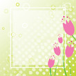 Spring Tulip Background Card