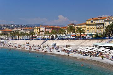 Promenade des Anglais et plage de Nice - France