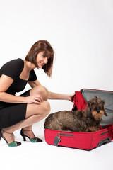 Viaggio con cane in valigia