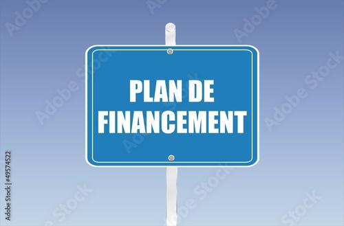 panneau plan de financement