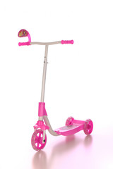 Pink scooter for pretty girl