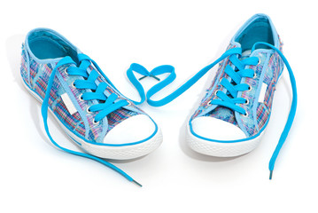Pair of blue sneakers