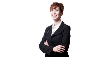 success arms folded short hair business woman