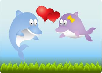 Дельфины - Влюбленные.