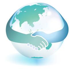 手をつなぐ地球