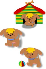 Puppy collection vector
