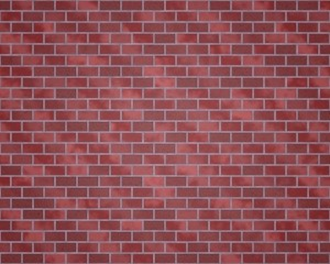 Brick wall with different red colors