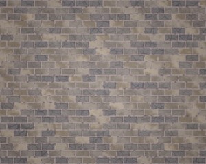 Brick wall with different brown and blue colors