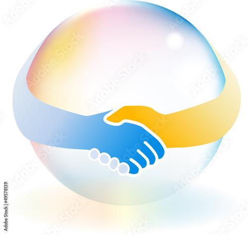 手をつなぐ虹色の地球