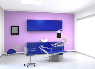 dental office in vivid cool tone