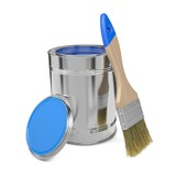 Paint Can and Paintbrush.