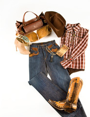 Cowgirl fashion composition