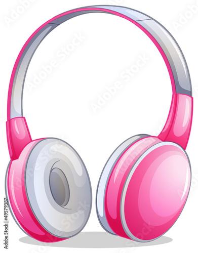 A pink headset