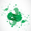 green paint splash design