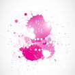 abstract bright pink watercolor art