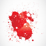 blood paint grunge splashing
