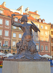 Sire monument in Old City Square in Warsaw