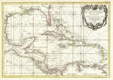 West Indies vieille carte