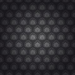 Seamless dark grey tile vintage wallpaper design