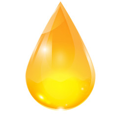 drop of yellow on a white background