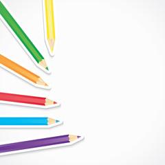 crayons avec ombre