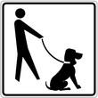 Schild weiß - Hundeservice