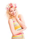 attraktive glückliche junge Frau